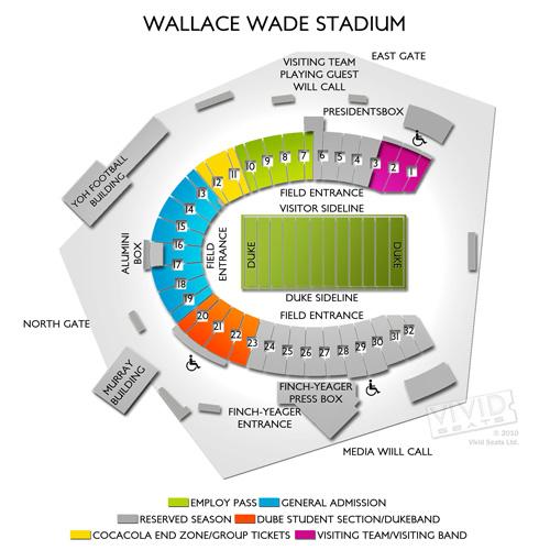 Wallace Wade Stadium Seating Chart Vivid Seats