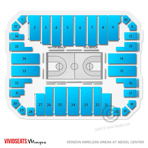 Siegel center seating chart 2016 2017 richmond spiders page 13