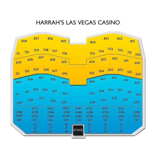 Harrahs Showroom At Harrahs Las Vegas Seating Chart