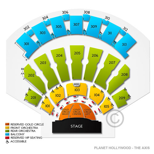 The Axis At Planet Hollywood Resort And Casino Tickets