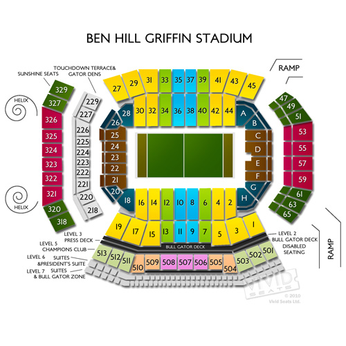 Ben Hill Griffin Stadium Seat Map | World Map 07