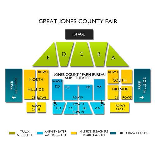 Seating Chart Great Jones County Fair Vivid Seats
