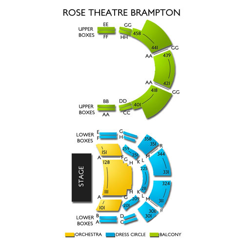 Rose Theatre Brampton Seating Chart Vivid Seats