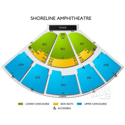 Shoreline Amphitheatre Seating Chart 3d   Shoreline amphitheater