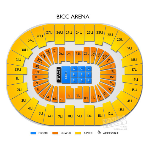 Bjcc arena seating chart legacy arena at the bjcc seating chart