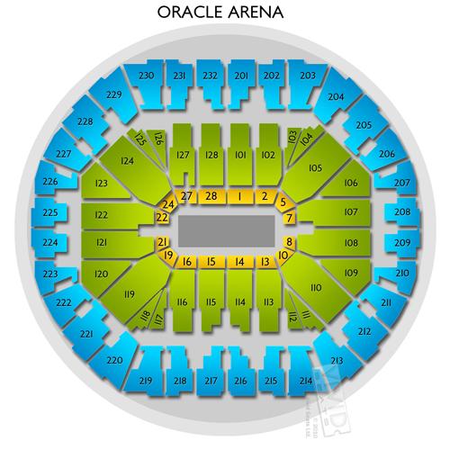 Oracle Stadium: Oracle Arena Seating