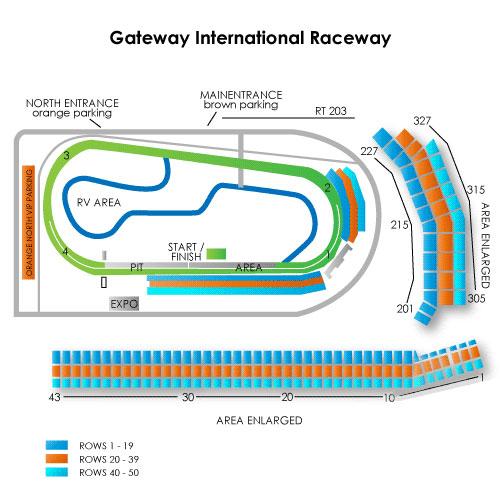Gateway International Raceway Seating Chart  Vivid Seats
