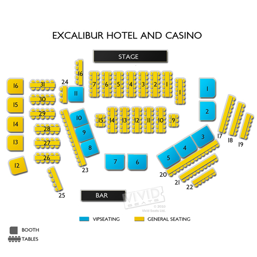 Excalibur Hotel And Casino Seating Chart Vivid Seats