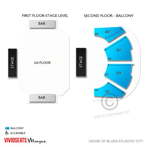 House Of Blues Atlantic City Seating Chart