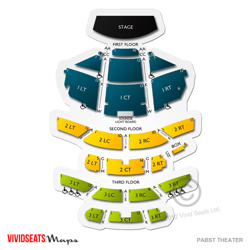 Pabst Theater Seating Chart Vivid Seats