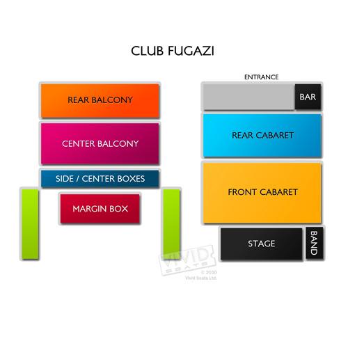 Beach Blanket Babylon Venue Hire: Club Fugazi Seating Chart