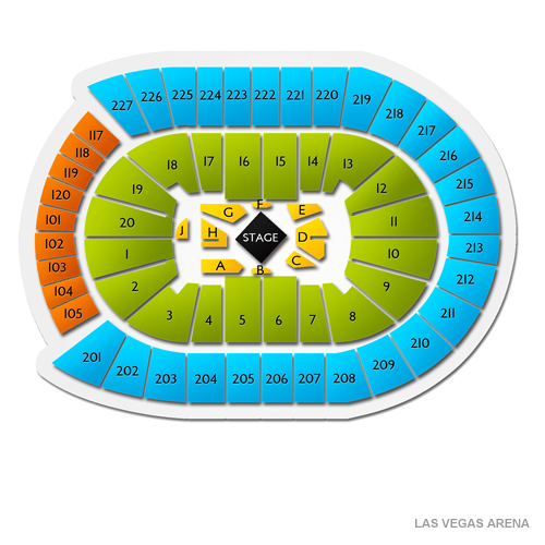 Guide To T Mobile Arena Seating Chart And Events Schedule