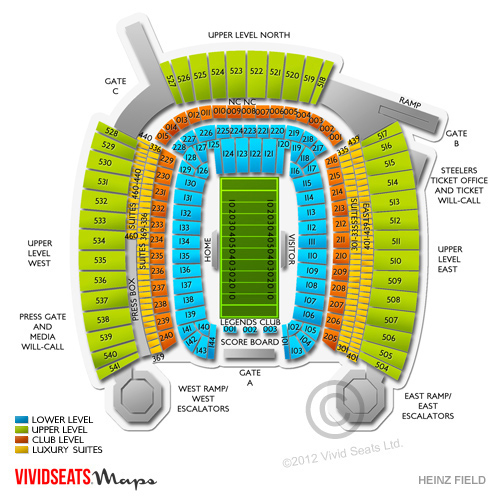 Heinz field seating chart rows heinz field seating chart heinz