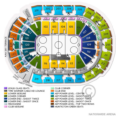 Nationwide arena columbus oh seating chart stage columbus