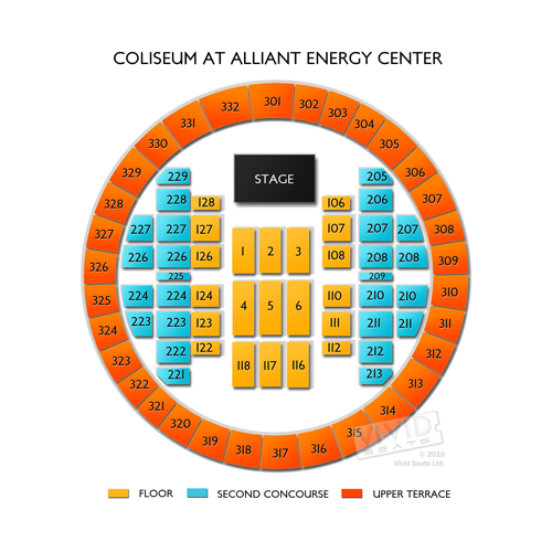 Coliseum At Alliant Energy Center Seating Chart Vivid Seats
