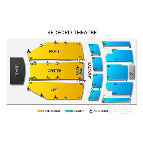 Redford Theatre Seating Chart Vivid Seats