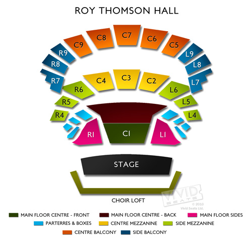 Roy Thomson Hall Seating Chart All The Theme Parks In