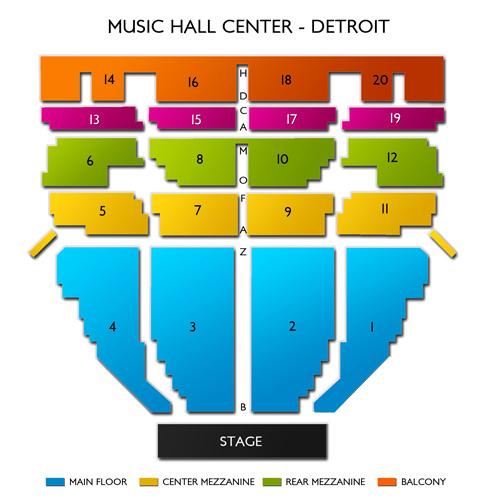 detroit music hall seating chart