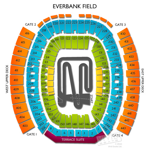 Jacksonville Stadium Seating Chart Georgia Florida