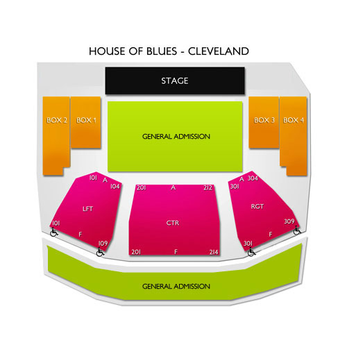 House of blues layout boston