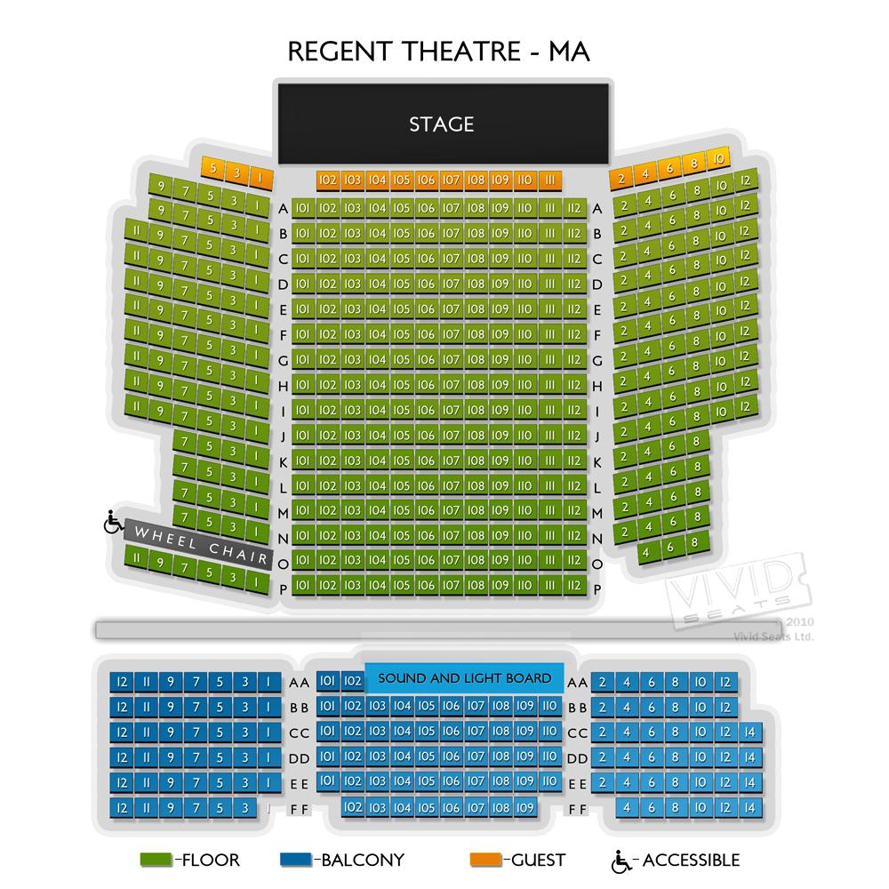 Regent Theatre Ma Seating Chart Vivid Seats