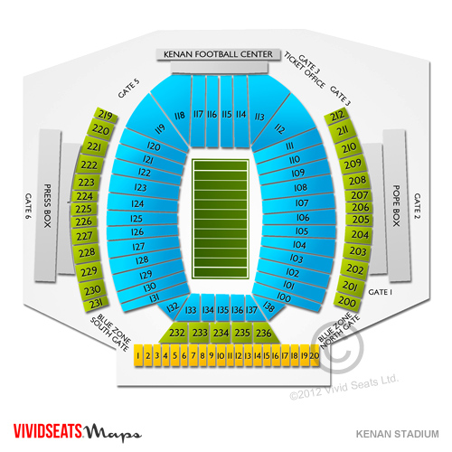 Kenan Stadium Seating Chart Vivid Seats