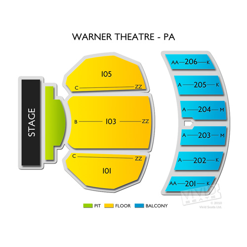 Warner Theatre Pa Seating Chart Vivid Seats