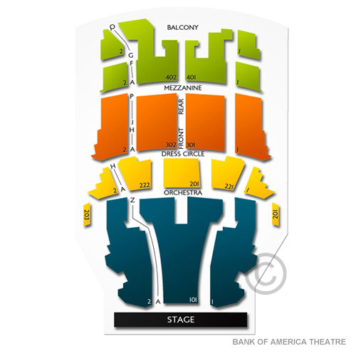 Bank Of America Theater Floor Plan Thefloors Co