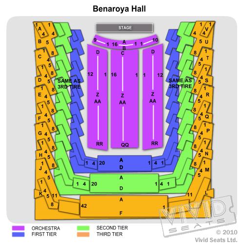 Benaroya Hall Seating Chart Taper Auditorium Elcho Table