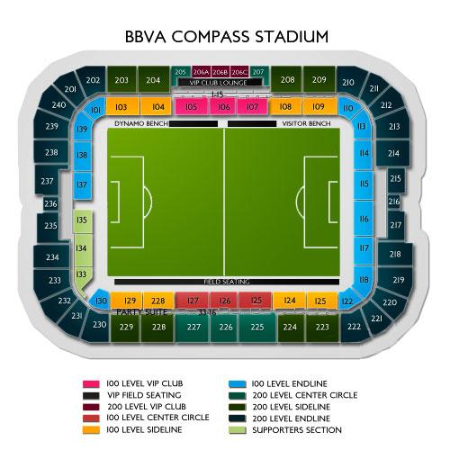 Bbva compass stadium houston tx seating chart stage houston