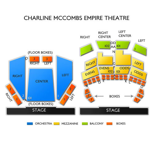 Charline Mccombs Empire Theatre Seating Chart Vivid Seats