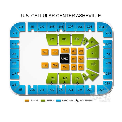 Us Cellular Center Asheville Seating Chart Brokeasshomecom - Us cellular center seat map