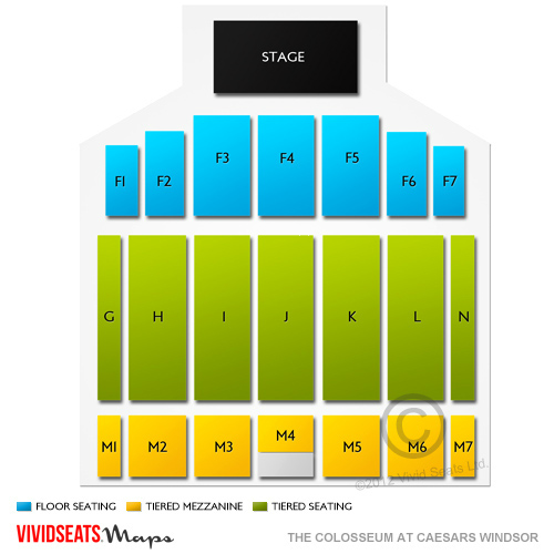 Caesars Windsor Concert Seating Chart