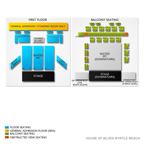 house of blues myrtle beach seating chart