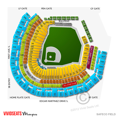 Safeco Field Seating Charts and Tickets - Safeco Field ...