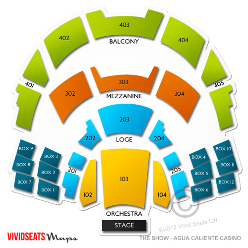 The Show Agua Caliente Casino Seating Chart Vivid Seats