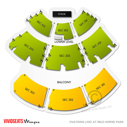 Ovations Live At Wild Horse Pass Seating Chart Vivid Seats