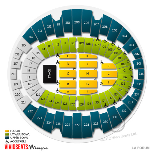 L A Forum Concert Tickets And Seating View Vivid Seats