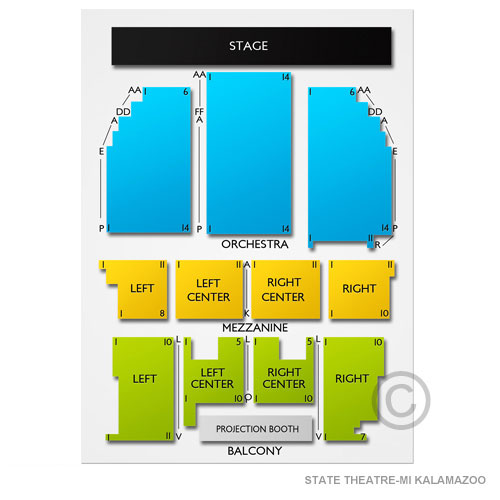 State Theatre Kalamazoo Seating Chart Vivid Seats