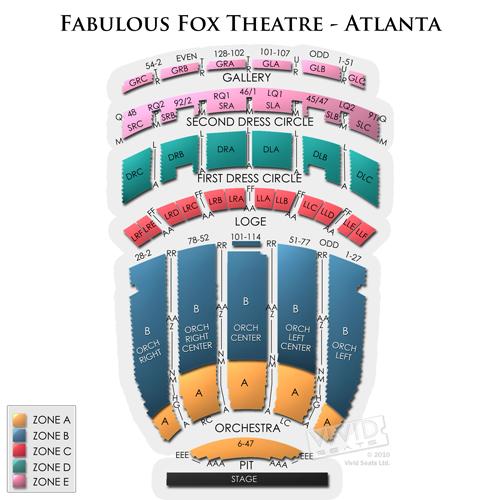 fabulous fox theatre atlanta a seating guide for all events vivid rh vividseats com fox theater seating chart atlanta ga fox theatre seating chart atlanta ga