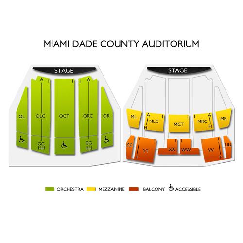Miami Dade County Auditorium Seating Chart