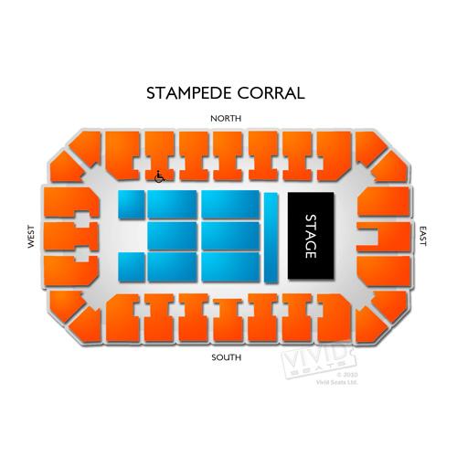 Stampede Corral Seating Chart Vivid Seats