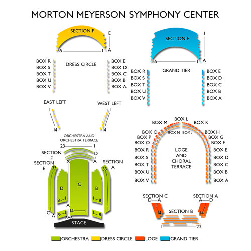 Morton Meyerson Symphony Center Seating Chart Vivid Seats