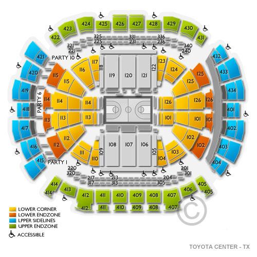 Toyota center houston tx seating chart stage houston theater