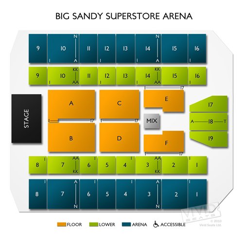 Big Sandy Arena Seating Chart Charlotte Party Bus