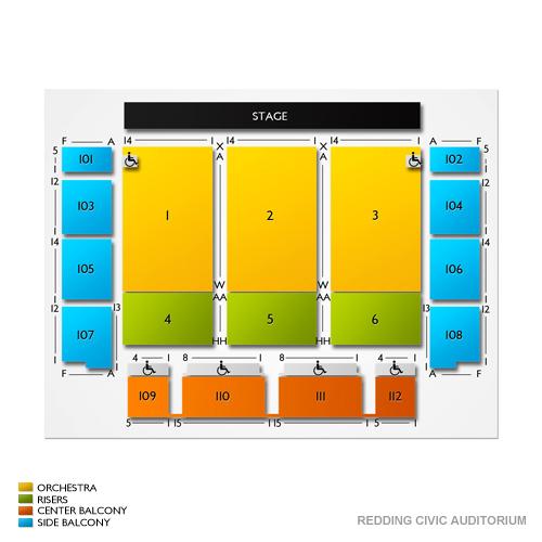 Seating Chart Redding Civic Auditorium Vivid Seats