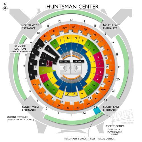 Huntsman Center Seating Chart Vivid Seats