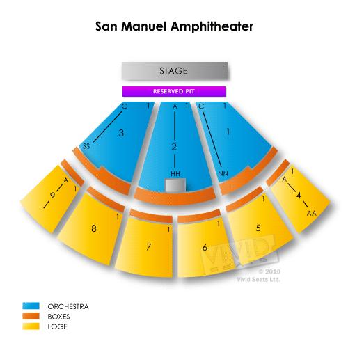 San manuel casino concerts seating chart treasure island resort