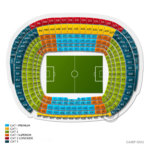 Image result for seating plan camp nou