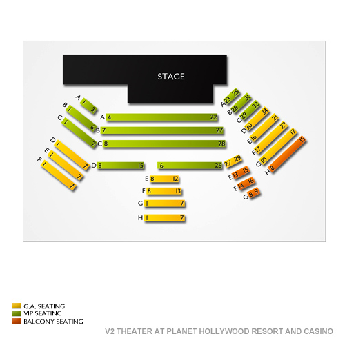 v2 theater at planet hollywood resort and casino seating chart vivid seats. Black Bedroom Furniture Sets. Home Design Ideas
